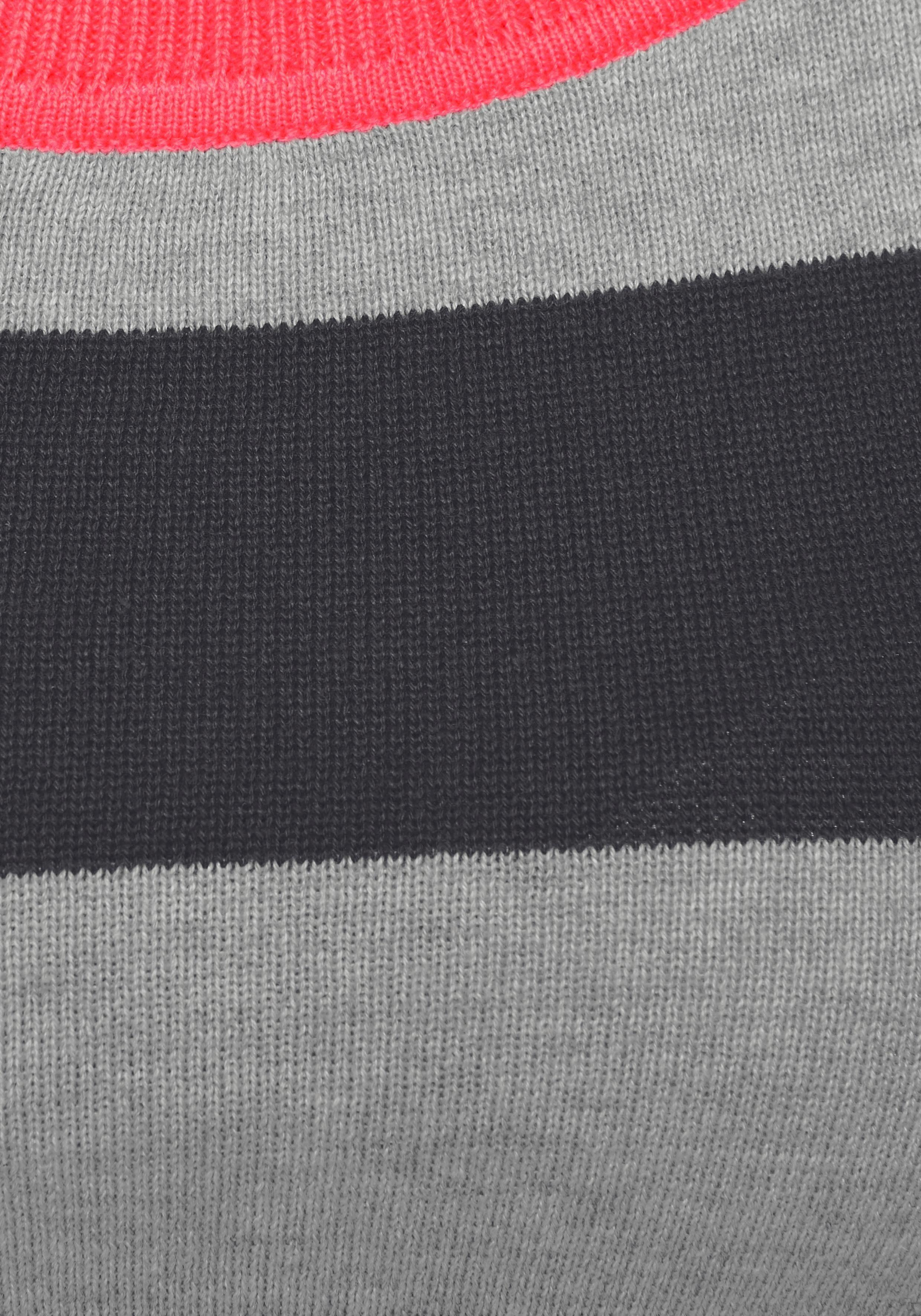 AJC Trui met blokstreepmotief in contrastkleur online shop