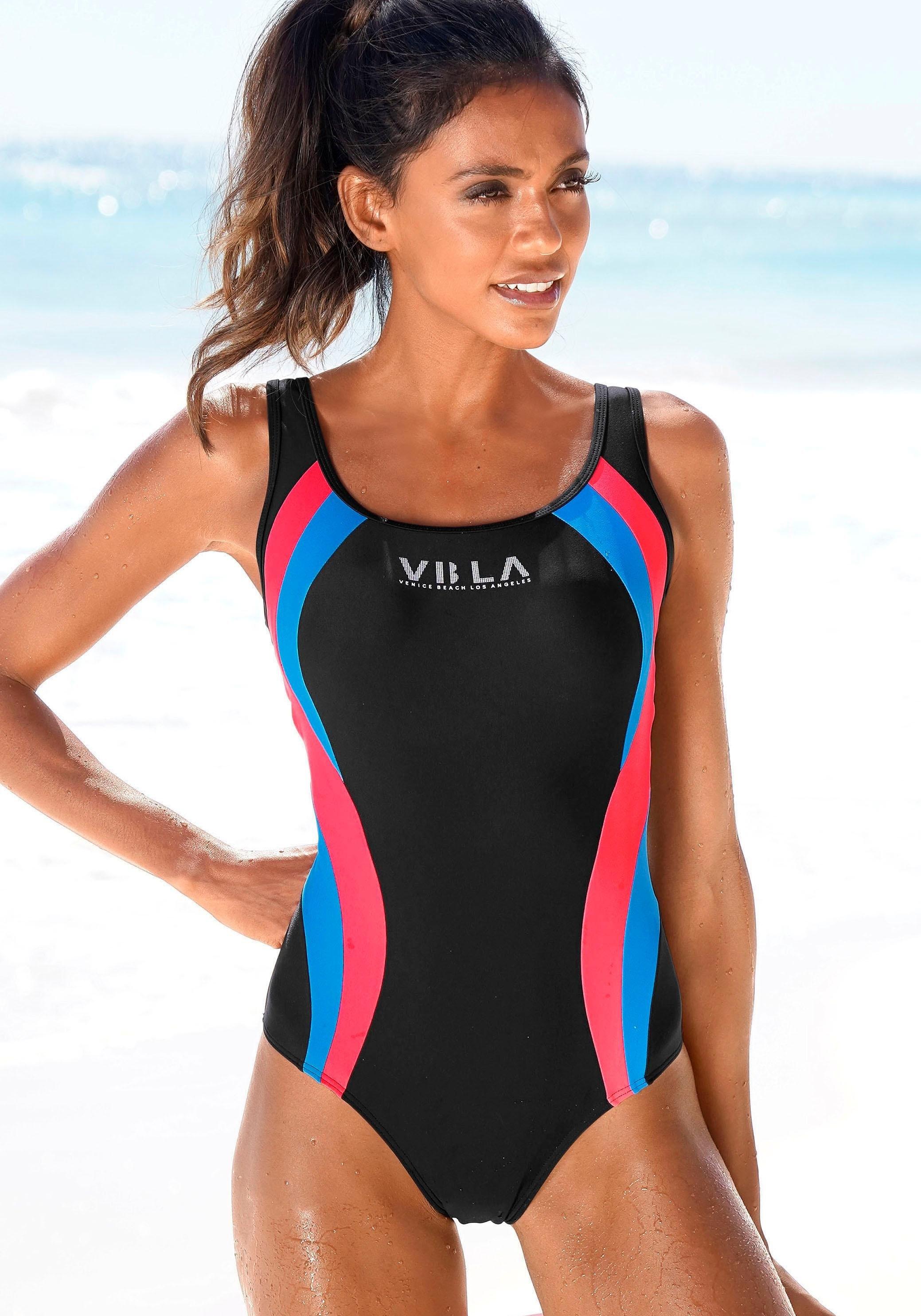 Op zoek naar een Venice Beach badpak Met logoprint en colourblocking-inzetten? Koop online bij OTTO
