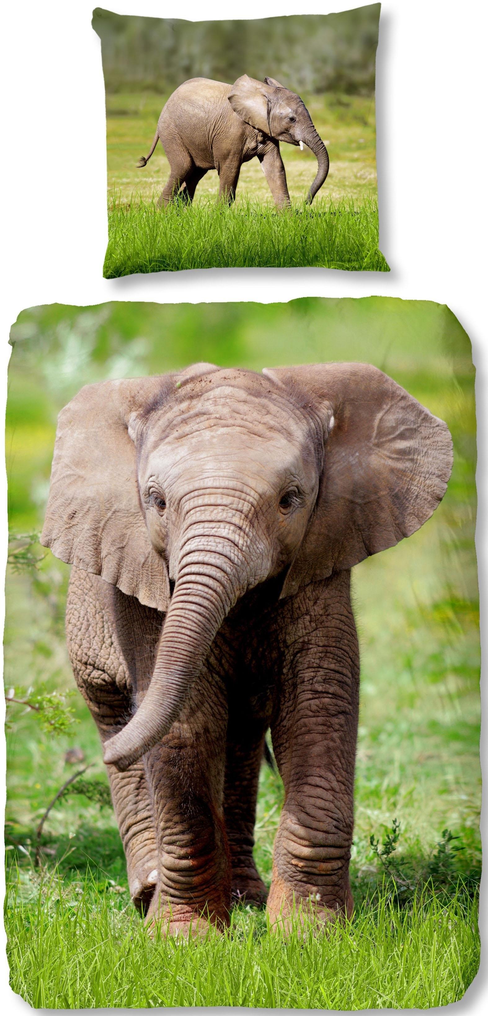 good morning kinderovertrekset Elephant met olifant (2-delig) bestellen: 30 dagen bedenktijd