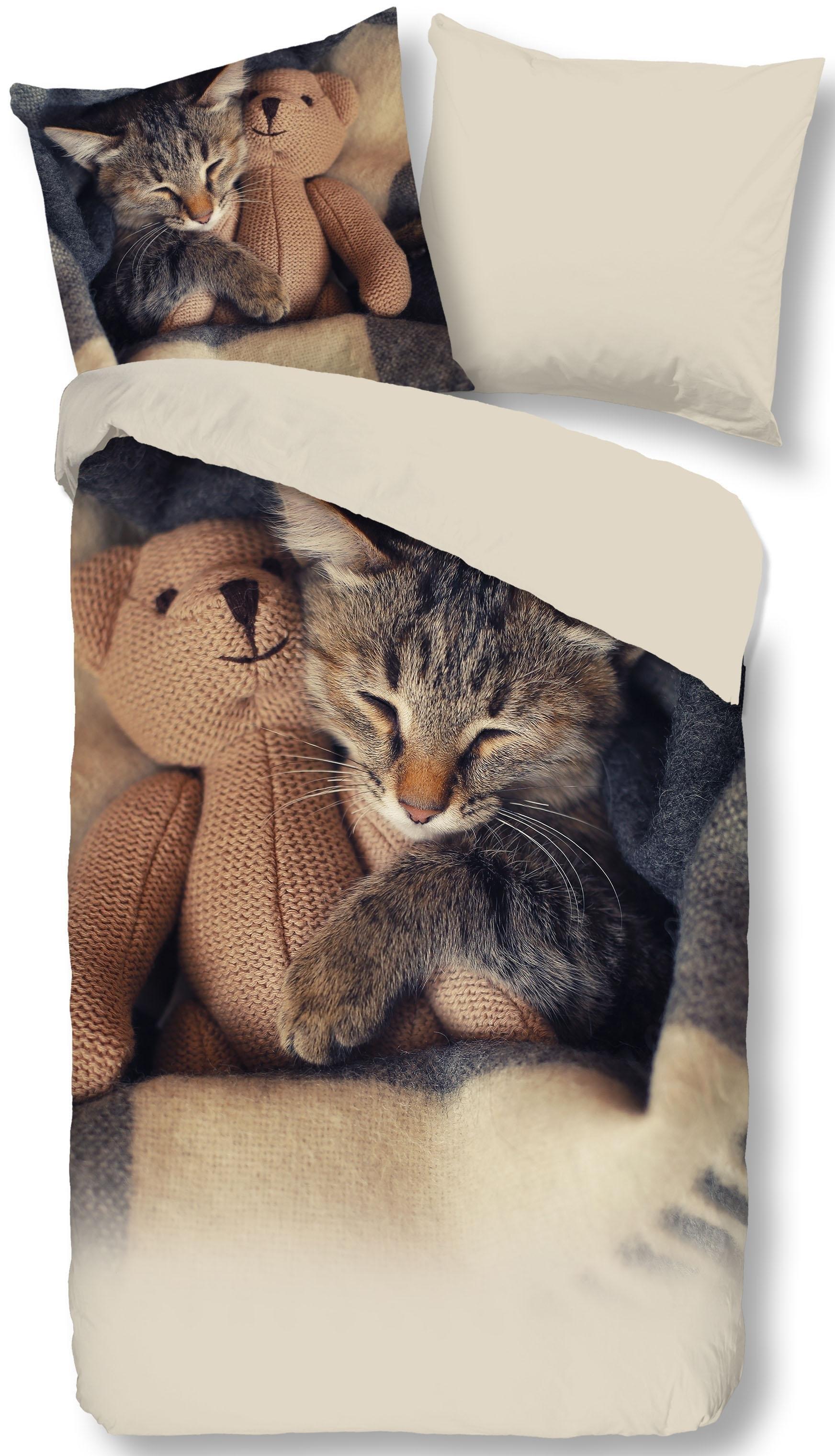 Good Morning tweezijdig te gebruiken overtrekset »Cute Little Cat« in de webshop van OTTO kopen