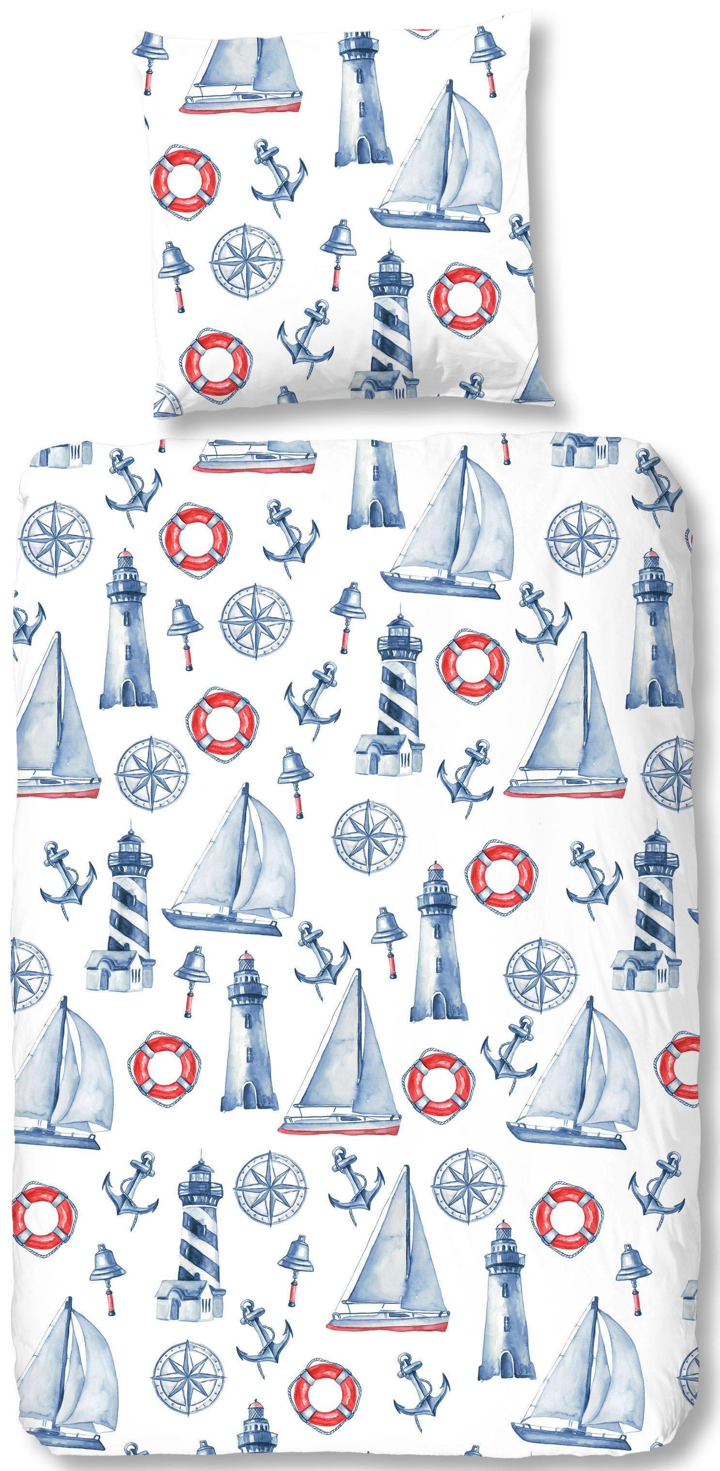 good morning kinderovertrekset Rosi met maritieme motieven (2-delig) nu online kopen bij OTTO