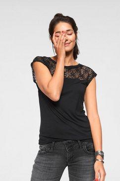 ajc shirt met ronde hals zwart