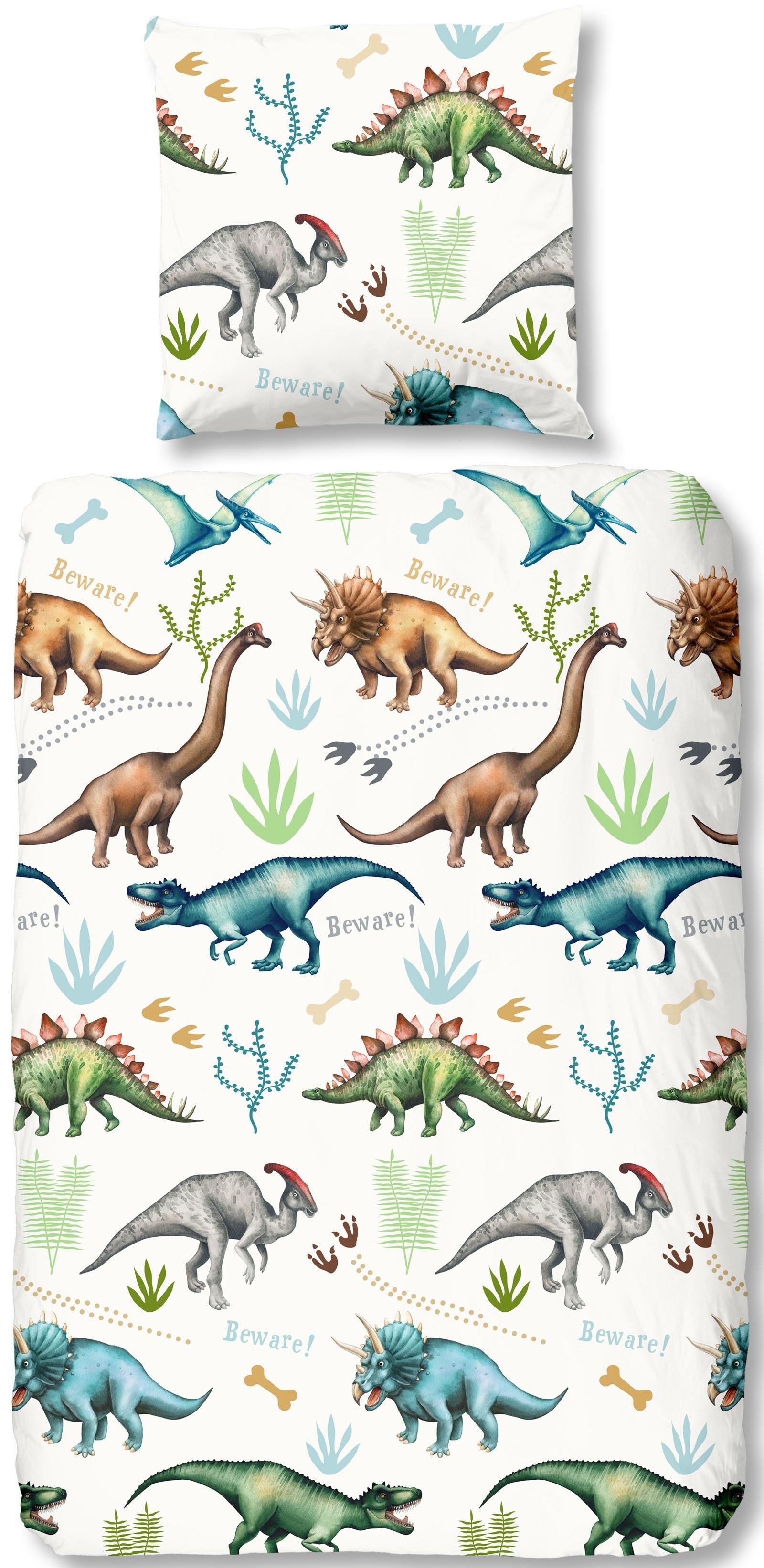 good morning kinderovertrekset Dino met dinosaurussen (2-delig) nu online kopen bij OTTO