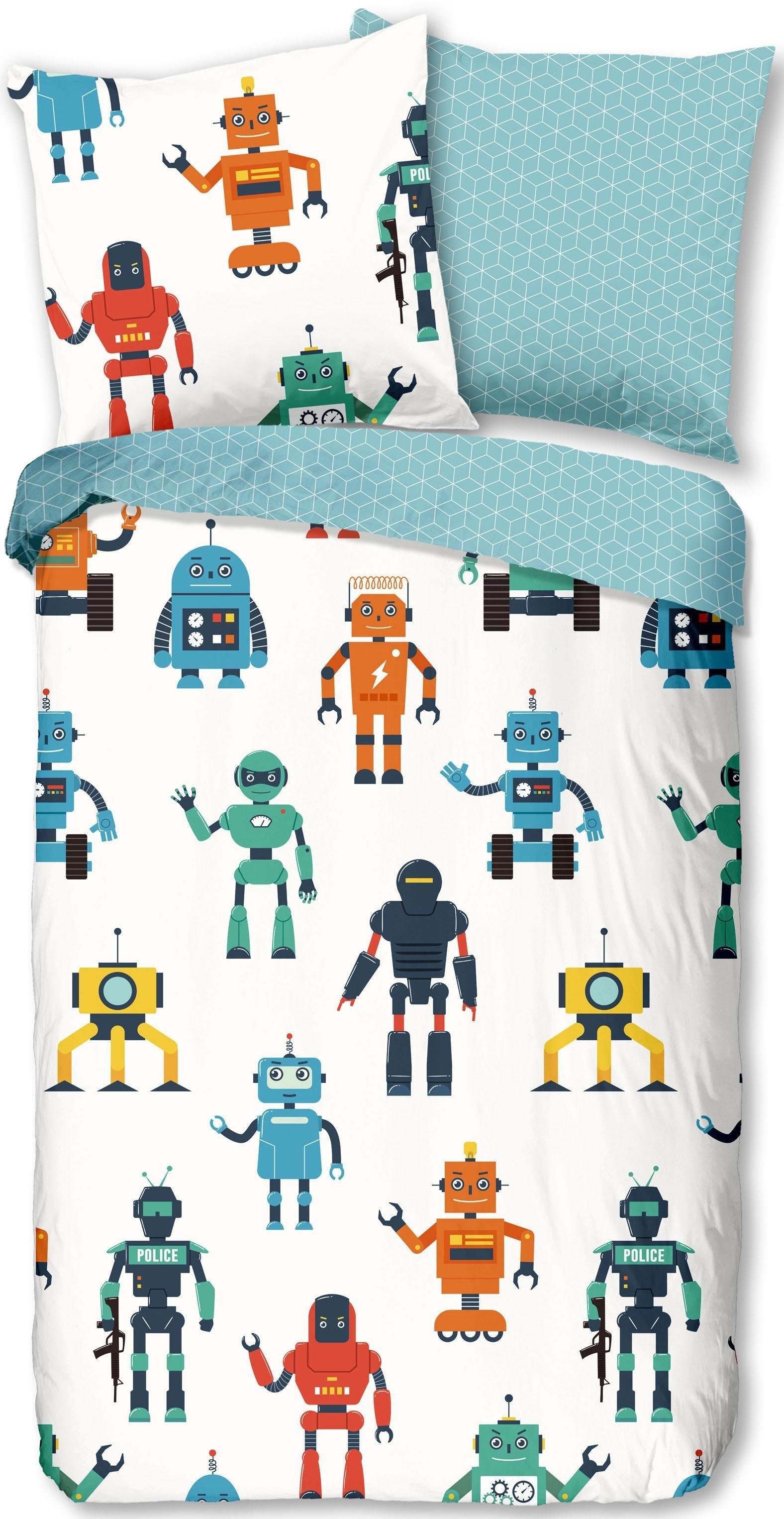 good morning tweezijdig te gebruiken overtrekset Robots met robots (2-delig) - gratis ruilen op otto.nl