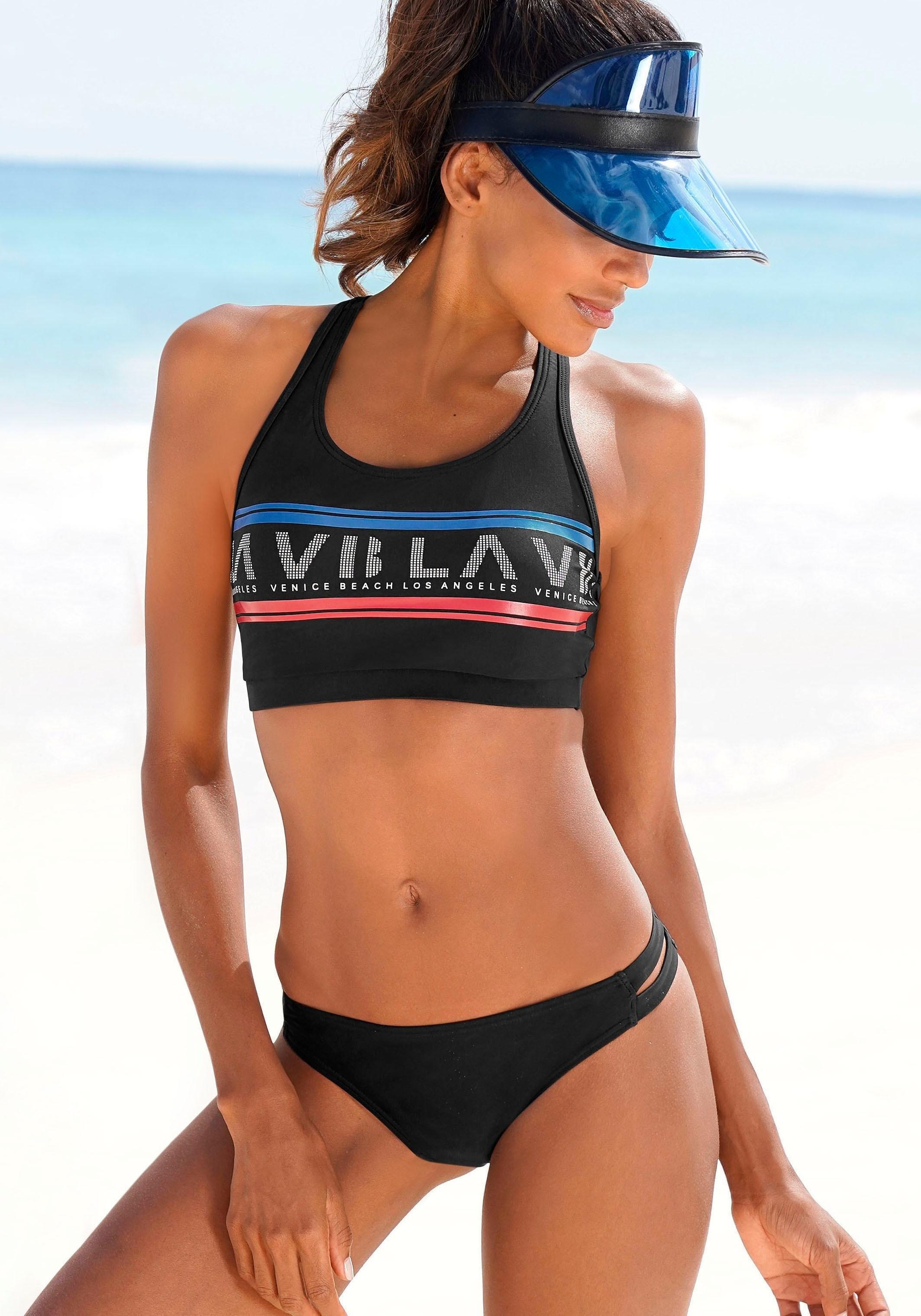 Venice Beach bustierbikini Met logoprint nu online kopen bij OTTO