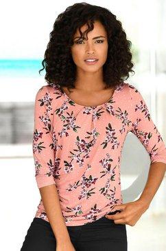 lascana shirt, set van 2 roze