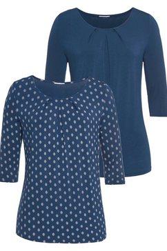 lascana shirt met lange mouwen blauw