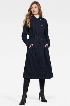 g-star raw trenchcoat »denim loose trenchcoat« blauw