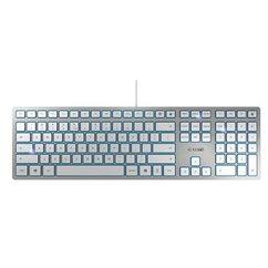 cherry keyboard kc 6000 slim zwart zilver