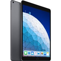 apple »ipad air - 256gb - wifi + cellular« tablet (10,5'', 256 gb, ios, 4g (lte)) grijs