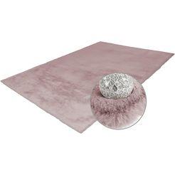 hoogpolig vloerkleed, »rabbit 100«, arte espina, rechthoekig, hoogte 45 mm, handgetuft roze