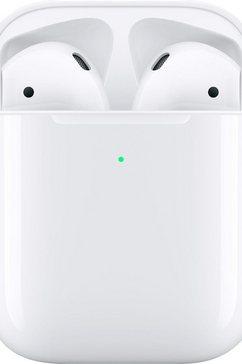 apple »airpods met wireless charging case 2019« in-ear-hoofdtelefoon (bluetooth, spraakbesturing) wit