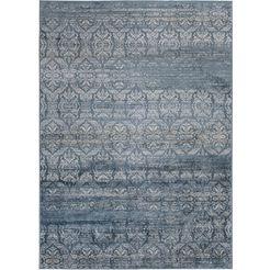 vloerkleed, »famos 2«, luxor living, rechthoekig, hoogte 4 mm, machinaal geweven blauw