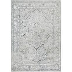 vloerkleed, »famos 7«, luxor living, rechthoekig, hoogte 4 mm, machinaal geweven zilver