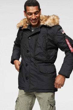 alpha industries parka »polar jacket« zwart