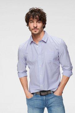 john devin overhemd met lange mouwen blauw