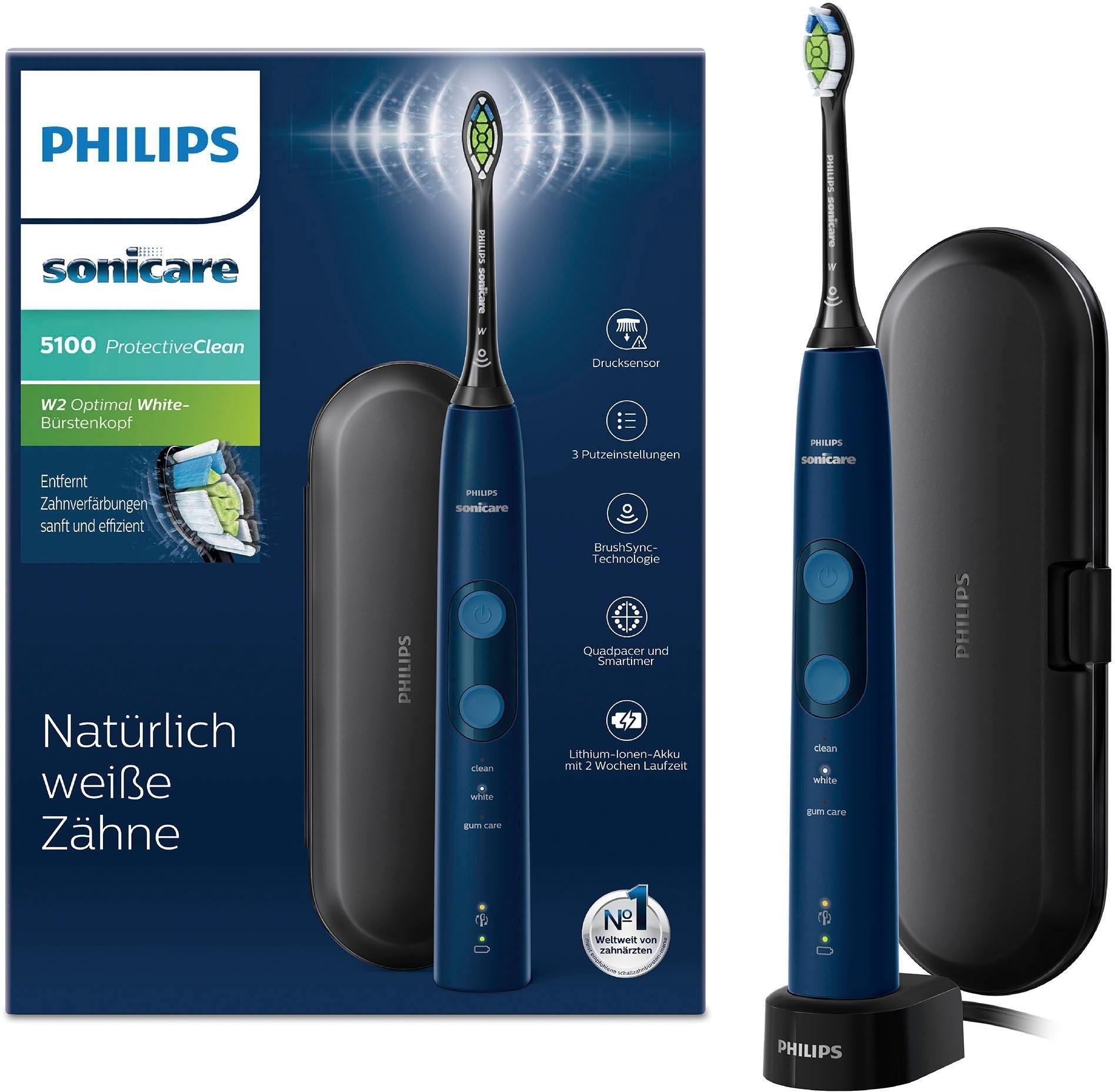 Philips Sonicare ultrasone tandenborstel Sonicare HX6851/53 ProtectiveClean 5100 met poetsdruksensor bij OTTO online kopen