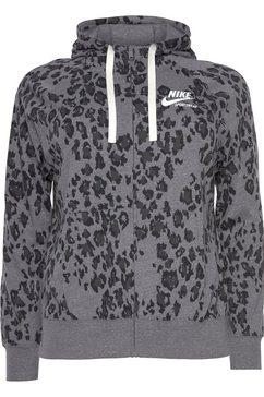 nike sportswear capuchonsweatvest »women nike sportswear gym vintage plus size« grijs
