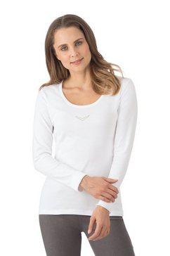 trigema shirt met swarovski crystals wit
