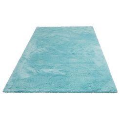 hoogpolig vloerkleed, my home selection, »magong«, hoogte 25 mm, handgetuft blauw