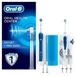 oral b mondverzorging center oxyjet + pro 2000 (set) wit