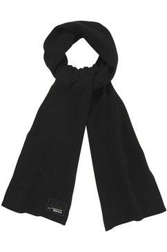 superdry gebreide sjaal met geborduurd logo zwart