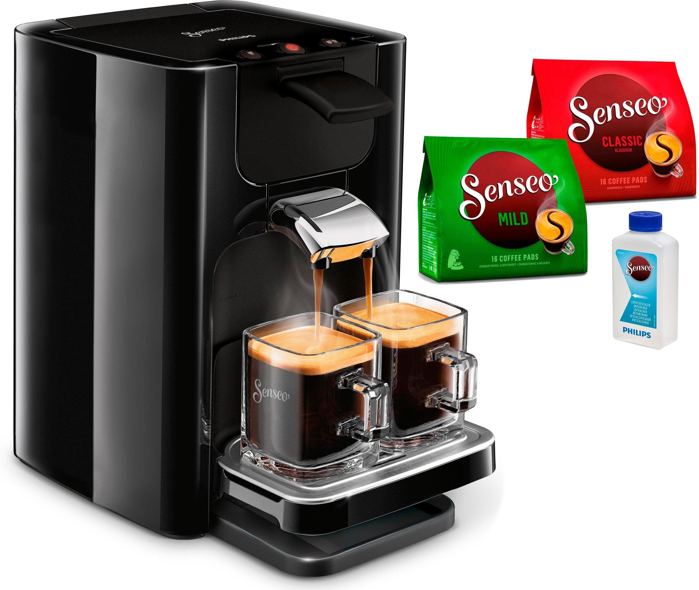 Senseo PHILIPS SENSEO®-koffiepadautomaat HD7865/60 Quadrante, met Coffee Boost, XL waterreservoir, zwart veilig op otto.nl kopen