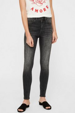 vero moda high waisted jeans »sophia« grijs