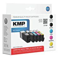 kmp inktpatronenset vervangt canon »pgi-580xxlpgbk-cli-581xx... multicolor