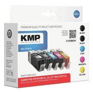 kmp set inktpatronen vervangt canon »pgi-570xl-cli-571xl« multicolor
