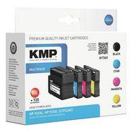kmp set inktpatronen vervangt hewlett packard »hp 932xl-3x h... multicolor