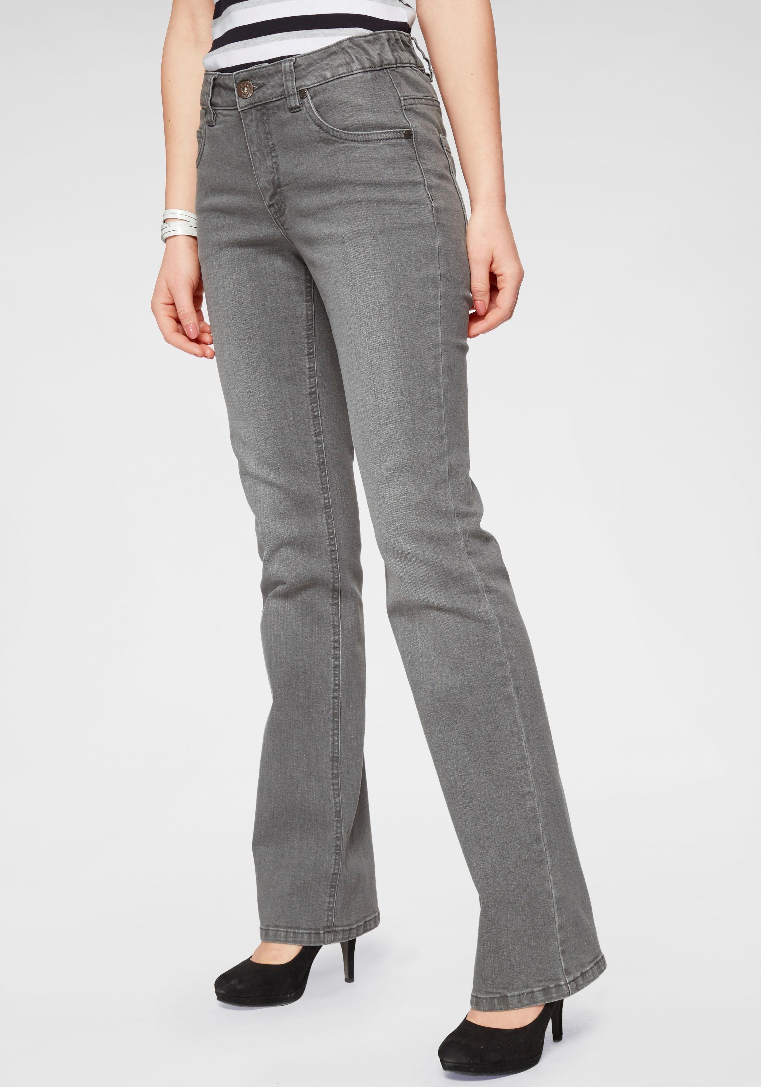 Arizona bootcut jeans Svenja - band met opzij elastische inzet High Waist nu online kopen bij OTTO