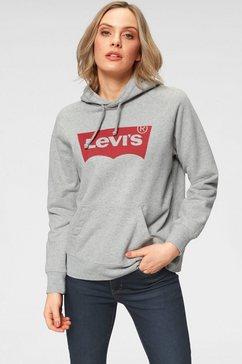 levi's hoodie »graphic sport hoodie batwing« grijs