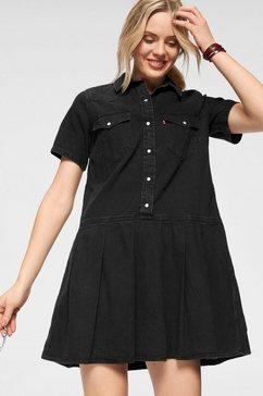 levi's jeansjurk »mirai western dress« zwart
