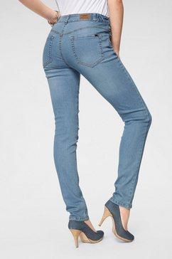arizona slim fit jeans »svenja - band met elastiek-inzet opzij« blauw