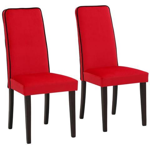 Home affaire stoelen Katja van luxe-Microgaren in fluwelige look (set van 2)