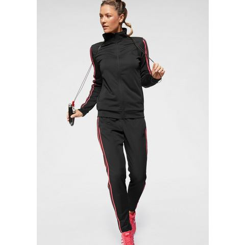 adidas performance trainingspak antraciet-roze