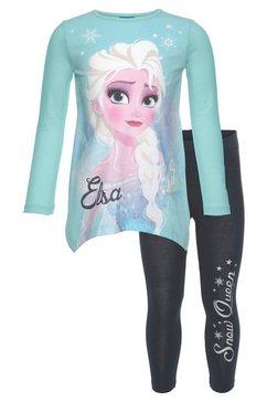 disney frozen shirt met lange mouwen  legging elsa met frozen-motief en glitterdetails (2-delig) blauw
