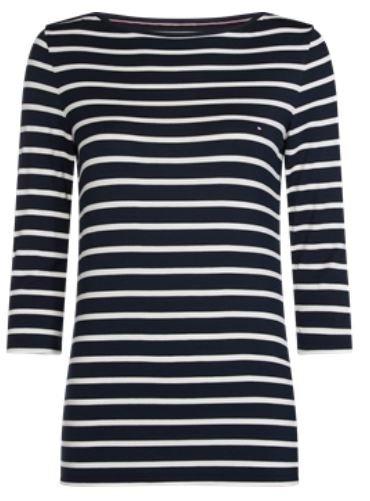 Tommy Hilfiger T-shirt HERITAGE BOAT NECK TEE klassiek streepdessin voordelig en veilig online kopen