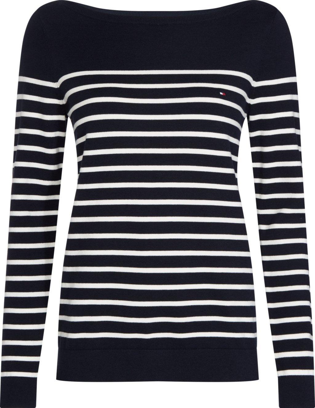 Tommy Hilfiger gestreepte trui »HERITAGE BOAT NECK SWEATER« bestellen: 30 dagen bedenktijd