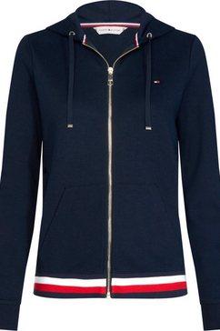 tommy hilfiger capuchonsweatvest heritage zip-through hoodie blauw