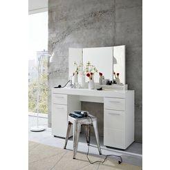 trendteam make-uptafel amanda incl. spiegel (set) wit