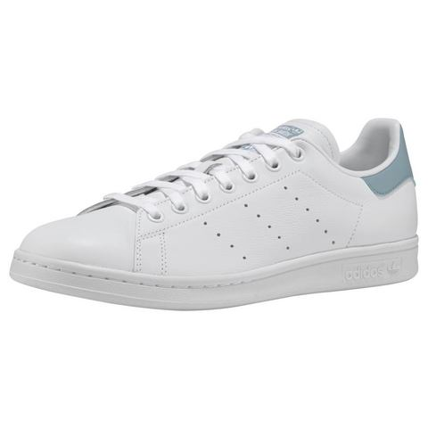 adidas originals Stan Smith leren sneakers wit-grijs