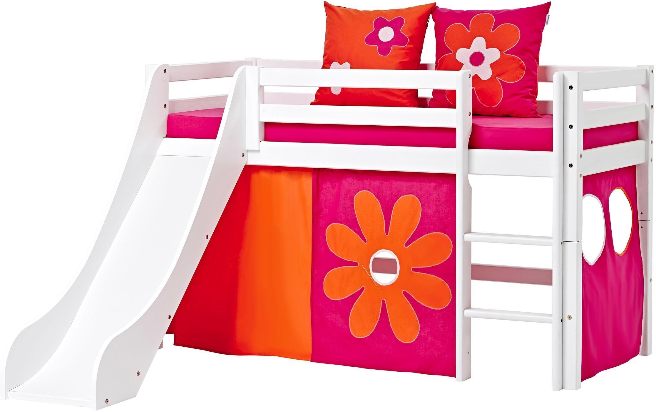 Bed Met Glijbaan.Halfhoogslaper Flowerpower Met Glijbaan