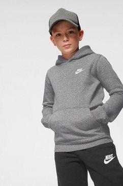 nike sportswear hoodie »boys nike sportswear hoodie club« grijs
