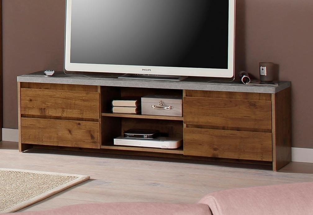 Home affaire tv-meubel »Maribo« in modern rustieke stijl, met mooi bovenblad (beton), breedte 150 cm in de webshop van OTTO kopen
