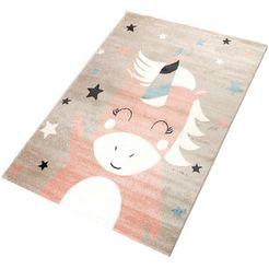 vloerkleed voor de kinderkamer, »einhorn 1«, living line, rechthoek, hoogte 12 mm, machinaal geweven roze