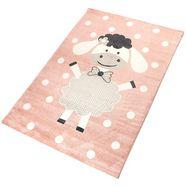 vloerkleed voor de kinderkamer, »dolly«, living line, rechthoekig, hoogte 12 mm, machinaal geweven roze