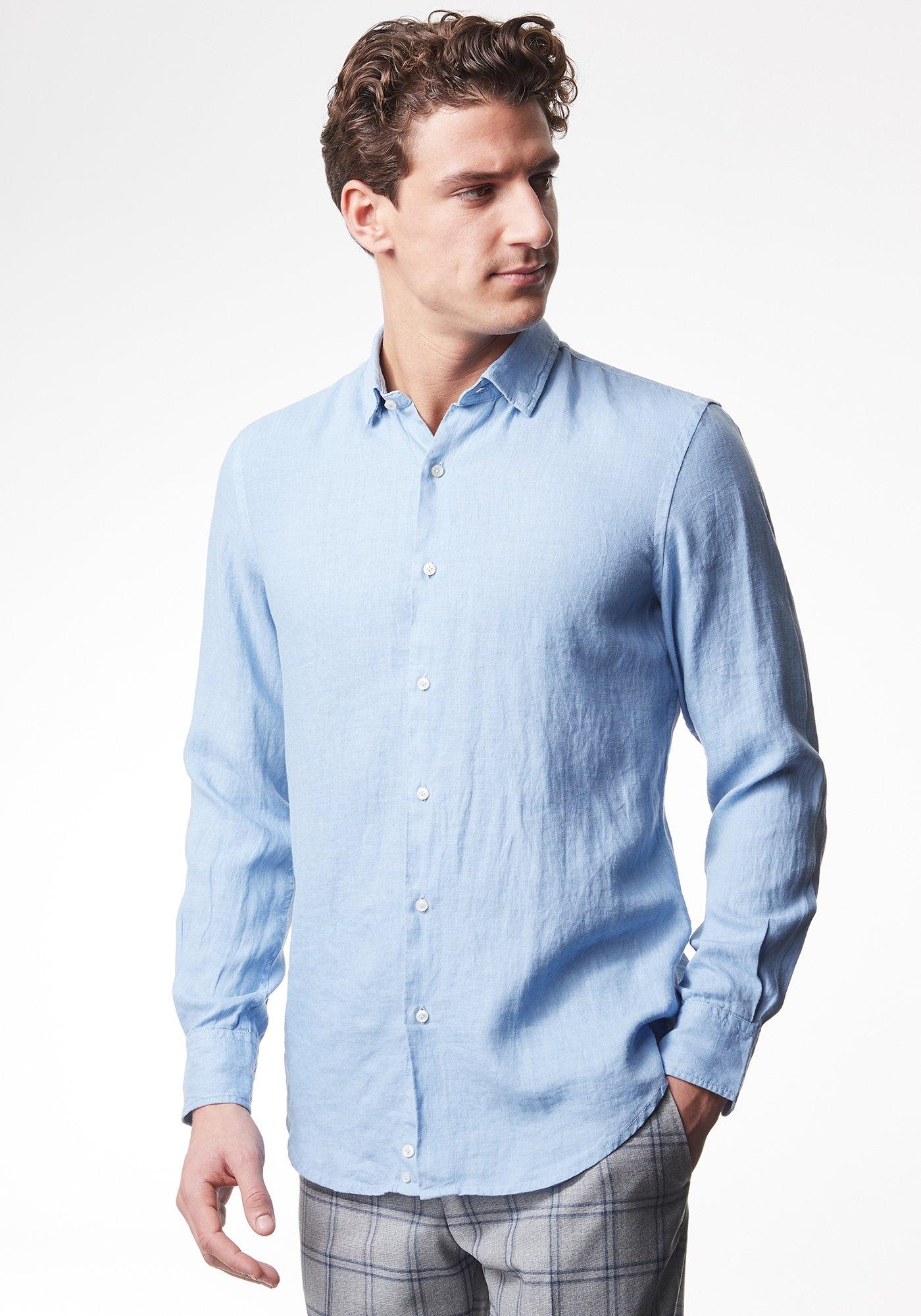 Pierre Cardin Licht linnenoverhemd - slim fit goedkoop op otto.nl kopen
