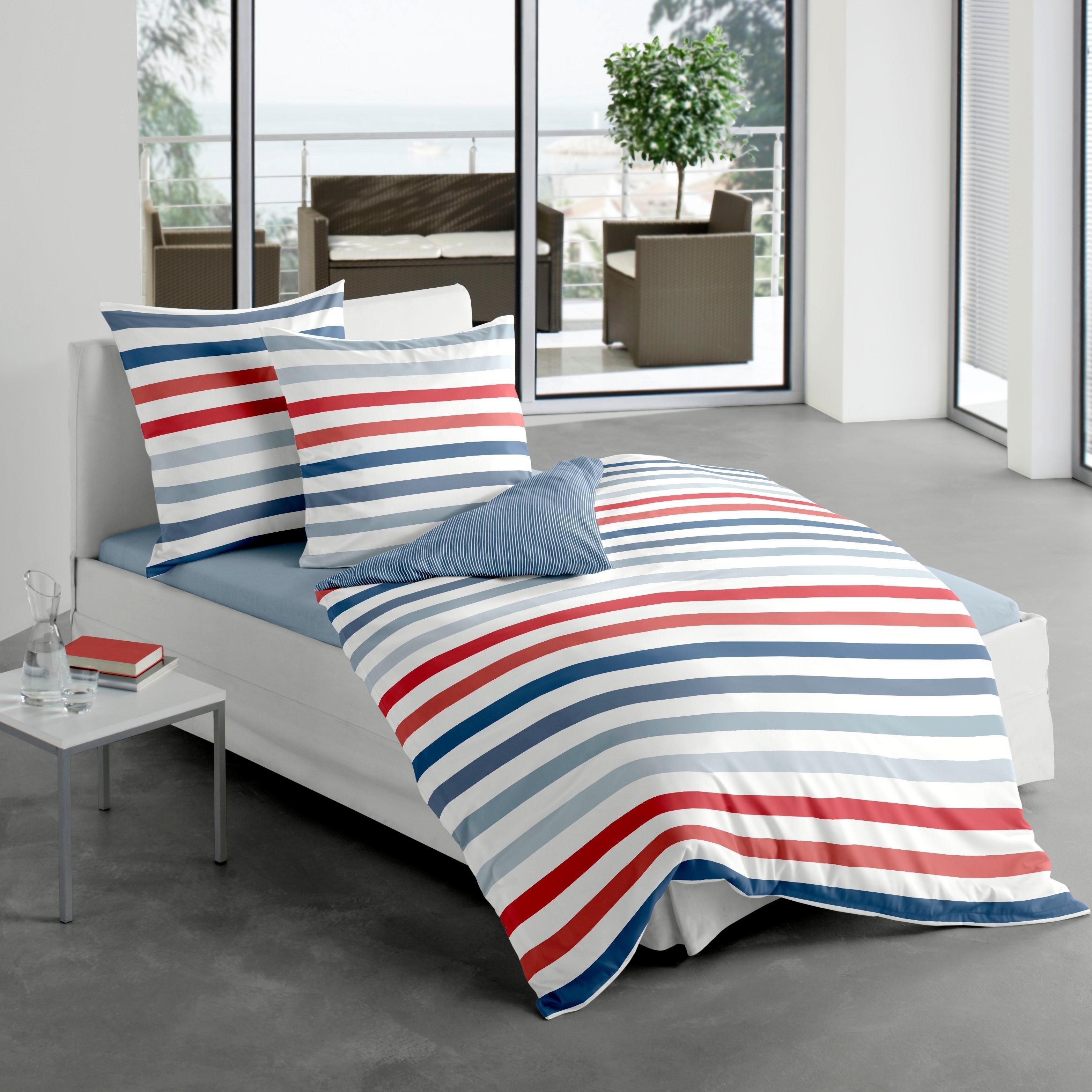 Bierbaum Tweezijdig te gebruiken overtrekset »Marine stripes« nu online kopen bij OTTO